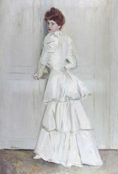 Paul-César Helleu - Madame Helleu en robe blanche by de sata1, via Flickr
