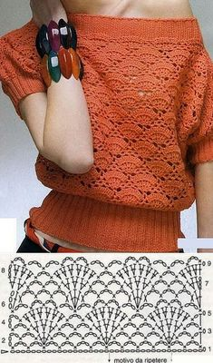 Crochet tutorials for women part 42 - Beautiful crochet tutorials and . Crochet tutorials for women Part 42 - Beautiful crochet tutorials and knitting instructions , New Woman's Crochet Patterns Part 42 - Beautiful Crochet. Poncho Au Crochet, Beau Crochet, Pull Crochet, Mode Crochet, Crochet Blouse, Crochet Baby, Crochet Top, Crochet Motifs, Crochet Diagram