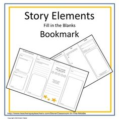 This is a foldable bookmark with eight sections that students can use to record story elements as they read.  By folding the paper in half, and then in half again, student create a bookmark that is always handy when they are ready to write.  The story elements include characters, character traits, setting, problem and solution, and more.