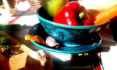 Ceramic bowl and plate