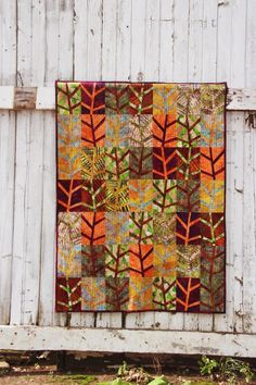 Tangled Twigs | Craftsy Paper Piece your own forest of twigs. Pattern included full size templates ready to duplicate and a coloring page to design your own. Lizard Creek Quilting Island Batik fabrics
