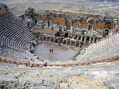 Hierapolis Amphitheater, Hierapolis (Southwest Anatolia) Hierapolis is a UNESCO World Heritage Site. The hot springs there have been used as a spa since the 2nd century BCE, and people came to soothe their ailments, with many of them retiring or dying here. The large necropolis is filled with sarcophagi, including the Sarcophagus of Marcus Aurelius Ammianos.