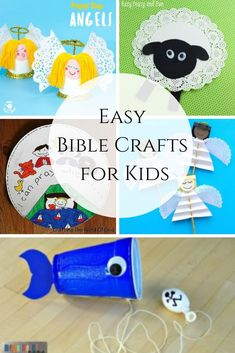 These easy biblecrafts for kids are great for sundayschool, Bible study with the littles, or rainy days. Bible Study Crafts, Bible Crafts For Kids, Bible School Crafts, Bible Study For Kids, Bible Lessons For Kids, Toddler Crafts, Preschool Bible Crafts, Bible Stories For Children, Creation Bible Crafts