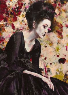 DRIED TEAR, Lita Cabellut (b1961, born a gipsy girl in the streets of El Raval in Barcelona, Cabellut was adopted at the age of 13)...