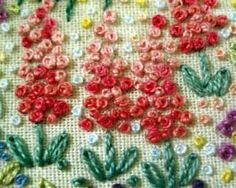 Embroidered Flower Gardens: French Knot Flowers – Needle'nThread.com--Mary Corbet's web-site has incredible how-to videos and inspiration for any level