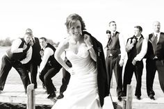 I like the idea of doing a pic w/ the bride and groomsmen then the groom and brides maids