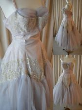 vintage 50's Alix Miami dress ballerina princess fairytale gown tulle lace prom