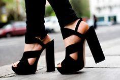 Chunky heels.