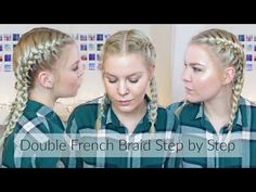 How To Double French Braid Step By Step • Hair For Beginners Ep. 6 | ShinyLipsTv - YouTube