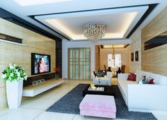 Fresco of Vaulted Living Room Ideas | Modern Living Room ...