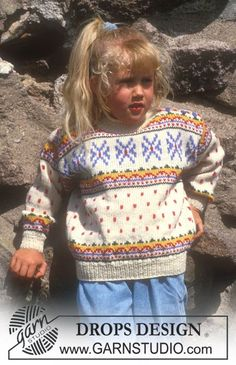 Nordic - Free knitting patterns and crochet patterns by DROPS Design Baby Knitting Patterns, Baby Sweater Knitting Pattern, Knitting For Kids, Free Knitting, Crochet Patterns, Drops Design, Magazine Drops, Crochet Baby Hats, Free Pattern