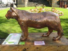 The penny tiger, Princess St Gardens, Edinburgh