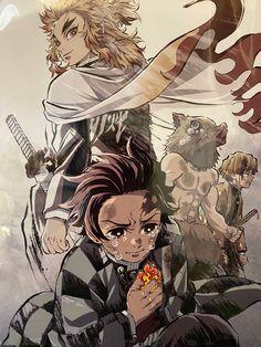 5 Anime, Fanarts Anime, Anime Demon, Haikyuu Anime, Anime Guys, Anime Characters, Anime Art, Demon Slayer, Slayer Anime