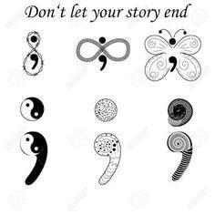Resultado de imagen para punto y coma y ying yang tatuaje