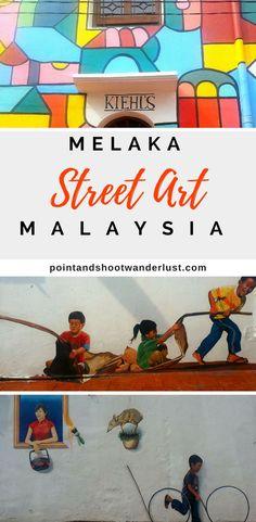 Take a look at some of Melaka's street art | Malacca, Malaysia | Melaka, Malaysia | UNESCO World Heritage Site | Street art in Malaysia | Mural in Malaysia | #Malaysia #streetart #Melaka