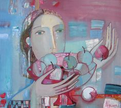 Tatyana Gorshunova  -  Girl with apples