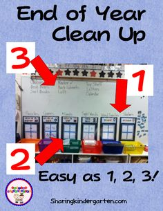Get your class to help you clean up the classroom at the end of the school year.