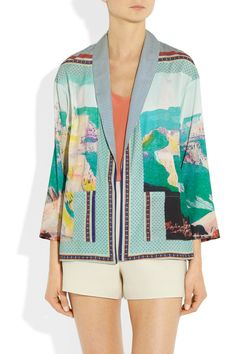 CLOVER CANYON  Printed crepe de chine jacket