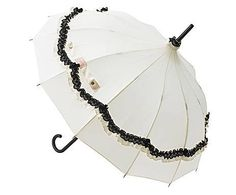 lisbeth dahl regenschirm schirm creme schwarz gestreift mit breiter r sche zirkus umbrellas. Black Bedroom Furniture Sets. Home Design Ideas