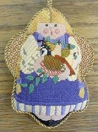 Talking Texture - Part 1 - Nuts about Needlepoint, needlepoint angel ornament from In Good Company