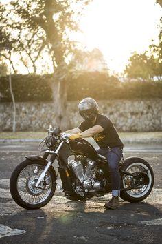 Honda Bobber vt600 photo: @filochofia ! #bobbercult #honda #hondashadow #shadow #bobber #garagebuilt #bobbers #hondabobber