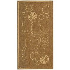 Safavieh Ocean Swirls Brown/ Natural Indoor/ Outdoor Rug (2'7 x 5'), Size 2'7 x 5' (Polypropylene, Geometric)