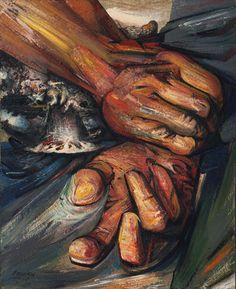 "Hands  David Alfaro Siqueiros (Mexican, 1896-1974)    1949. Enamel on composition board, 48 1/8 x 39 3/8"" (122.2 x 100 cm). Gift of Henry R. Luce. © 2012 Siqueiros David Alfaro / Artists Rights Society (ARS), New York / SOMAAP, Mexico  101.1950"
