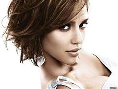 Jessica Alba. Now that my hair is completely fried, I may be cutting it this short