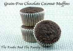 Grain-Free Chocolate Coconut Muffins from @Tara aka The Foodie And The Family