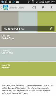 Living and bed rooms, kitchen, bathroom Sherwin Williams Store, Sherwin William Paint, Dorian Gray, Bed Rooms, Parakeet, Paint Colors, The Neighbourhood, Bathroom, Kitchen