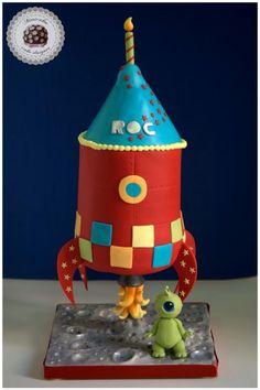 Rocket gravity cake 3D - Cake by Mericakes
