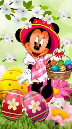 Arte Do Mickey Mouse, Minnie Mouse Cartoons, Minnie Mouse Pictures, Mickey Mouse Images, Mickey Mouse And Friends, Disney Mickey Mouse, Easter Drawings, Art Drawings For Kids, Mickey Mouse Wallpaper