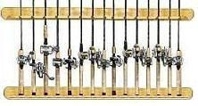 Freshwater Vertical Wall Mount Pine Fishing Pole Rack - 15 Rod