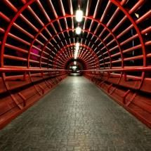 Circular, industrial, red, gray, perspective, spiral, parallel lines