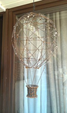 Hot air balloon made out of wire