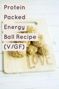 Protein Packed Energy Ball Recipe #saveeandsavory #vegan #glutenfree #recipe #proteinballs #almondmeal #energyballs #veganglutenfree #bitesized