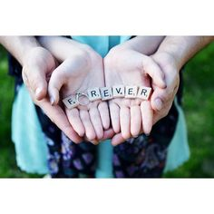 ~ WEDDINGS GALORE ~ Forever  - Scrabble tiles-Engagement Photo