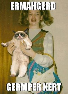 Ermahgerd Girl and Grumpy Cat