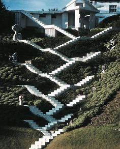 Charles Jenks Cosmic Garden cascade stairs #inspiration #lechapeau