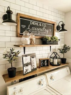 7 Genius Ways to Bring Storage into a Small Laundry Room! Pack a lot of style and storage into a small space with these inspiring laundry room storage ideas. ideas for small spaces laundry Seven Genius Ways to Bring Storage into a Small Laundry Room! Rustic Laundry Rooms, Laundry Decor, Laundry Room Organization, Laundry Room Design, Laundry In Bathroom, Small Laundry Rooms, Laundry Storage, Organization Ideas, Laundry Room Decorations