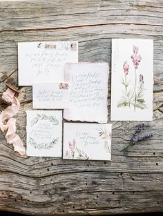 Photography : Sally Pinera | Calligraphy : Wildfield Paper Co. Read More on SMP: http://www.stylemepretty.com/2015/07/21/dreaming-in-a-lavender-field-wedding-inspiration/