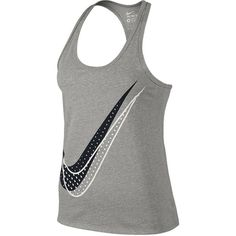 Nike Shadow Dot Racerback Tank Top (€22) ❤ liked on Polyvore featuring activewear, activewear tops, tops, nike, nike activewear and nike sportswear