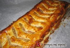 Στρούντελ με μαρμελάδα μήλο #sintagespareas Greek Recipes, Fruit Recipes, Dessert Recipes, Cooking Recipes, Desserts, Cake Cookies, Hot Dog Buns, Banana Bread, Breakfast Recipes