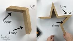 Wooden stars make great accent decorations, and making your own is easy! See How To Make Farmhouse Style Wooden Stars from Queen Bee of Honey Dos! Wood Block Crafts, Scrap Wood Projects, Easy Woodworking Projects, Diy Projects, Scrap Wood Crafts, Best Woodworking Tools, Woodworking Classes, Recycled Crafts, Wooden Christmas Crafts