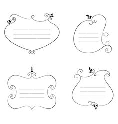 Hand drawn frames vector by Nata-Art on VectorStock®