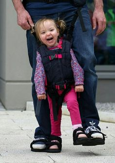 A Dad Designs Shoes For Her Paralyzed Daughter To Have Walking Sensation...