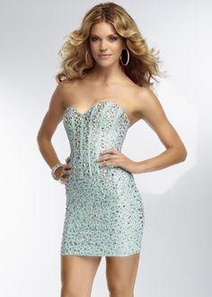 Cheap Mint Strapless Corset Back Beading Homecoming Dress