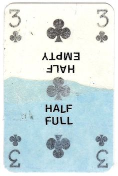 Half Empty, Half Full, playing card collage by Sarah Hutchinson Burke