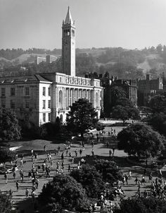 Ansel Adams. U.C. Berkeley. The roof of Dwinelle Hall offers a clear shot of students changing classes at UC Berkeley in 1966. Ansel Adams spent three years photographing the UC system. Photo: Ansel Adams, Bancroft Library