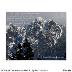 Faith And The Mountain Wall Art Poster
